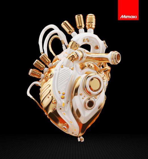 JFX200-2513-EX Robot heart Color
